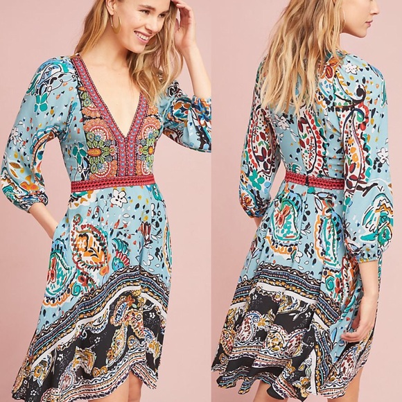 b52870835314d Anthropologie Dresses | Beaded Karmina Dress By Akemi Kin | Poshmark
